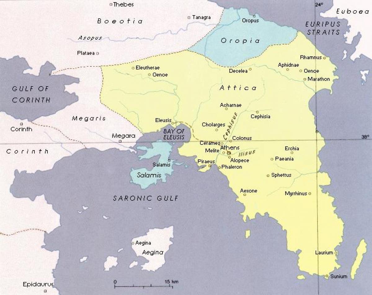 Cartina Della Grecia Antica In Italiano.Attica Mappa Antica Grecia Attica Atene Mappa Grecia